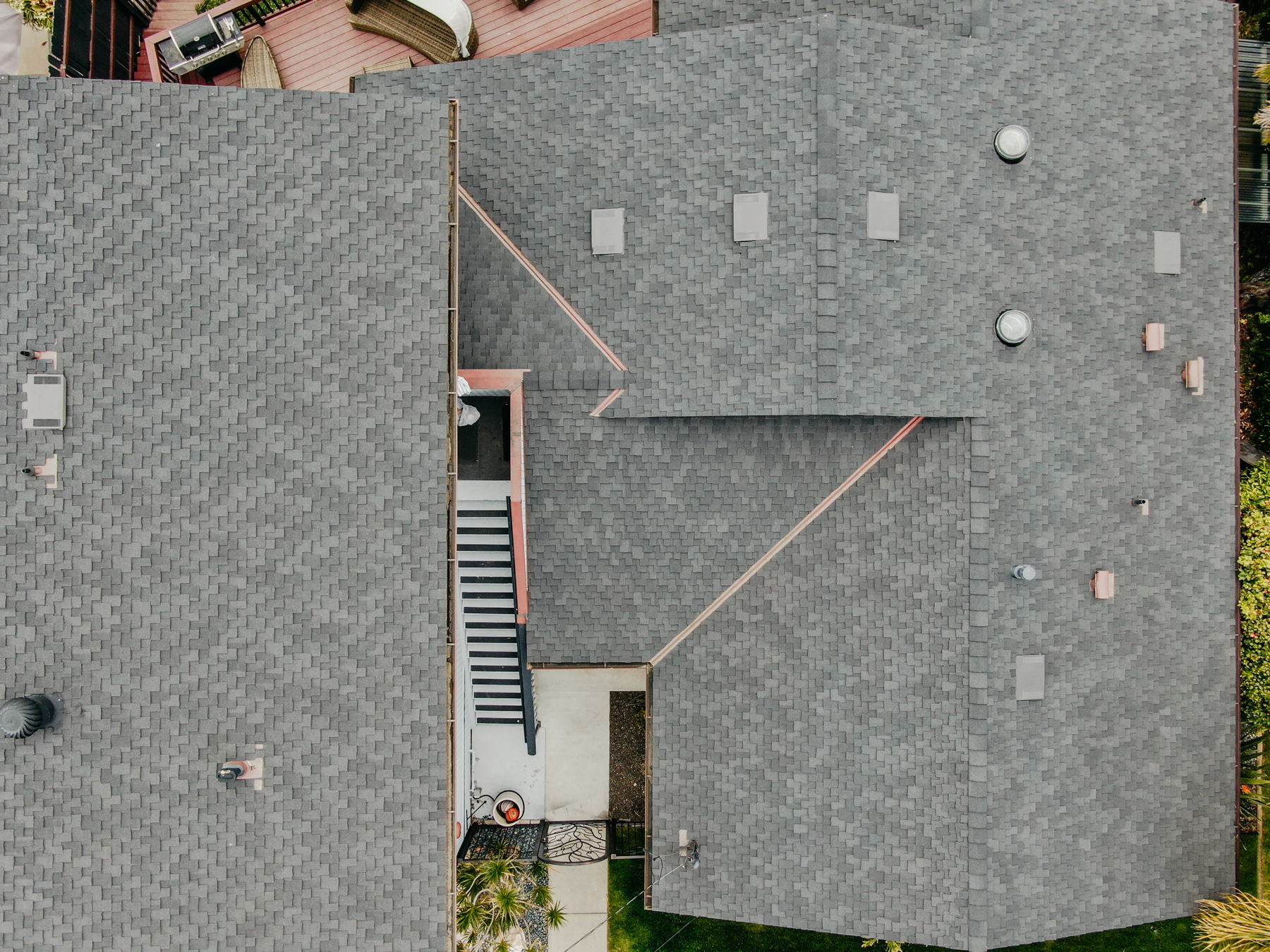 large residential roofing project shingles